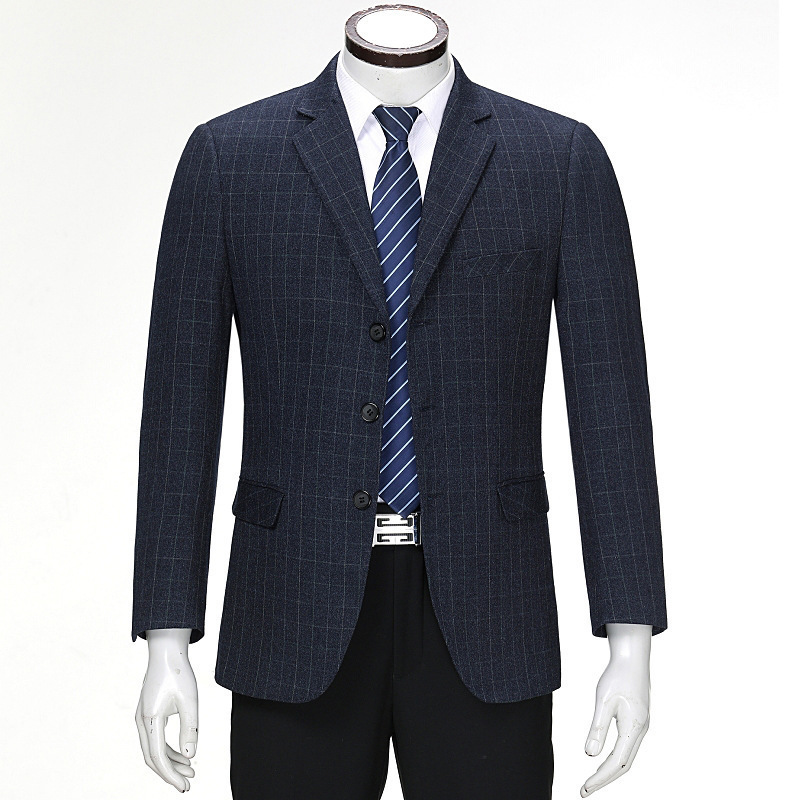 Mens top-grade suit single coat business casual Blazer slim and easy sig pattern middle-aged Korean version of Danxi