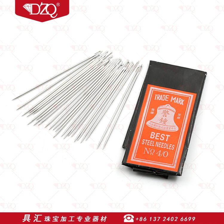 警钟针钢针首饰压光针抛光针执模针缝衣针手工针打金工具25支/包
