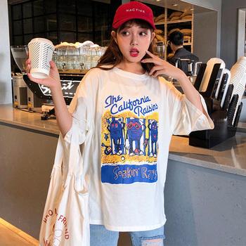 学生原宿风bf宽松大阪短袖2019 t恤