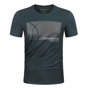 2020新品上市男装短袖丝光棉T恤爆款修身型欧货潮流夏季欧洲站