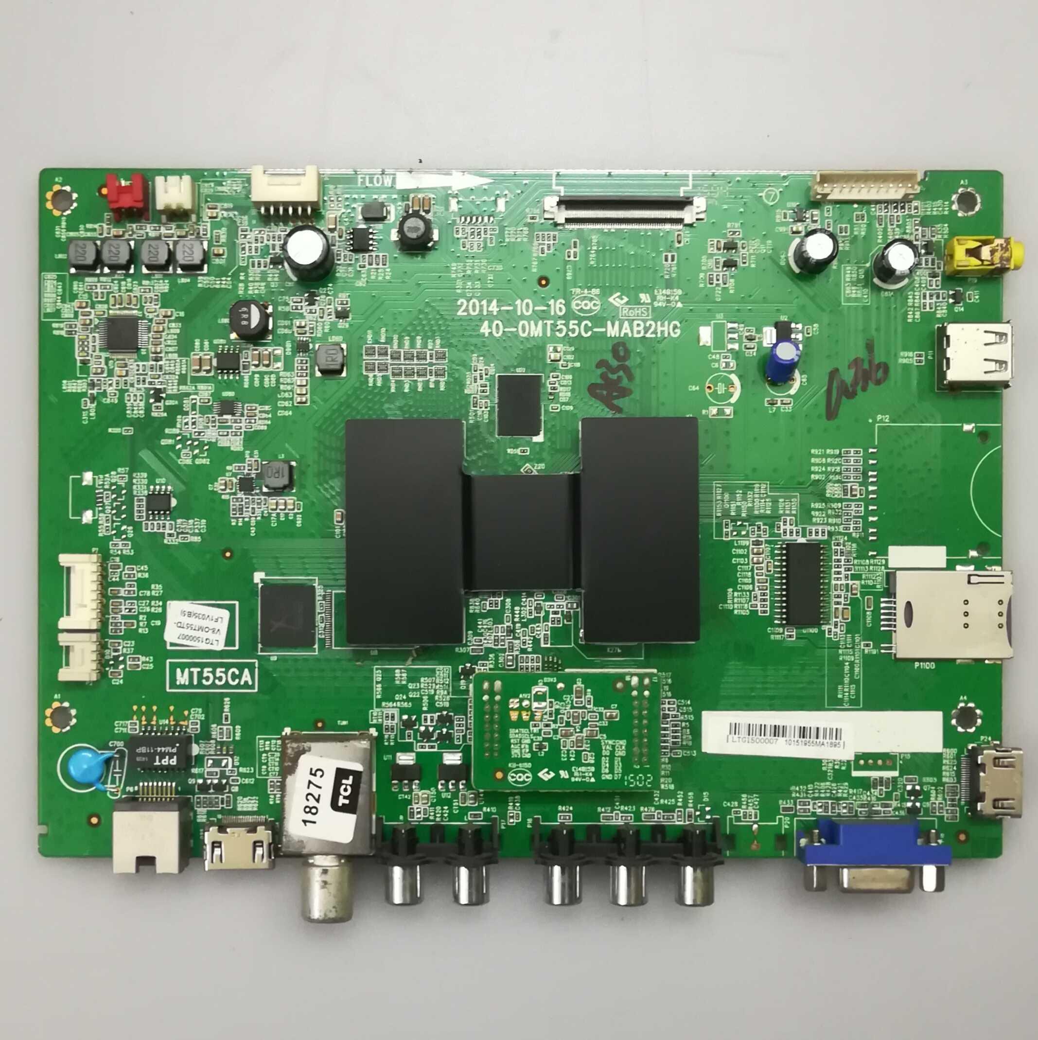 原装TCL B55A380 主板 40-0MT55C-MAB2HG 配屏 LVF550CS0T