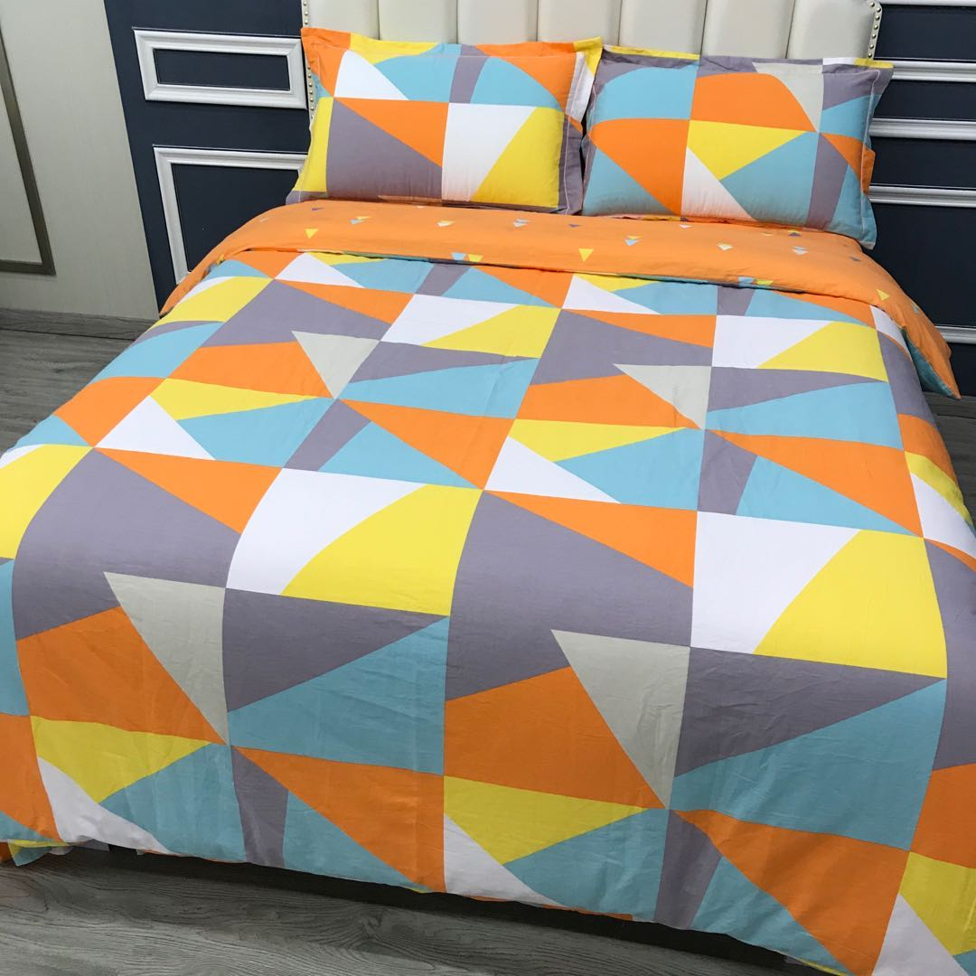 爱居家家纺 床上用品四件套春夏秋冬季纯棉床单棉粘被套 床品双人