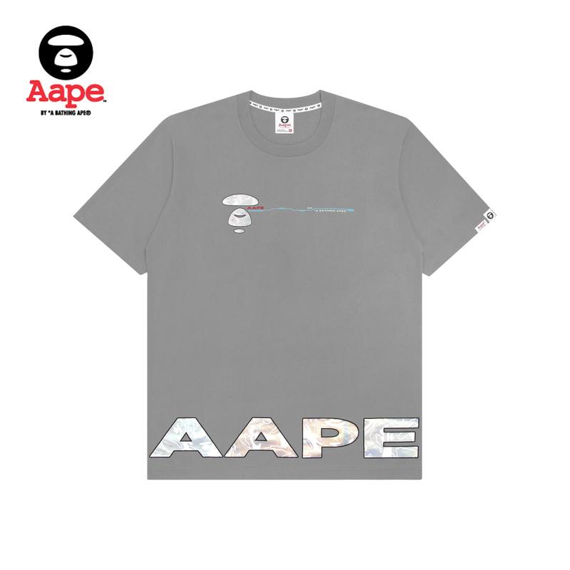 Aape男装春夏反光幻彩迷彩猿颜字母印花短袖T恤0449XXE
