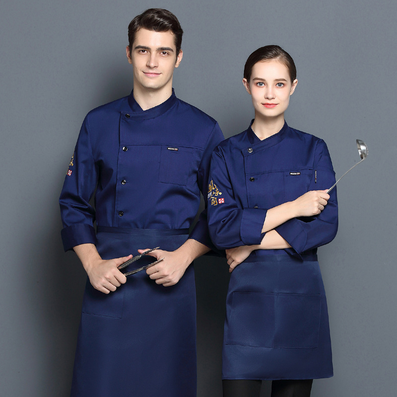 Hotel kitchen autumn and winter long sleeve chefs work clothes Bakers uniform cake clothes decorators work clothes custom printing