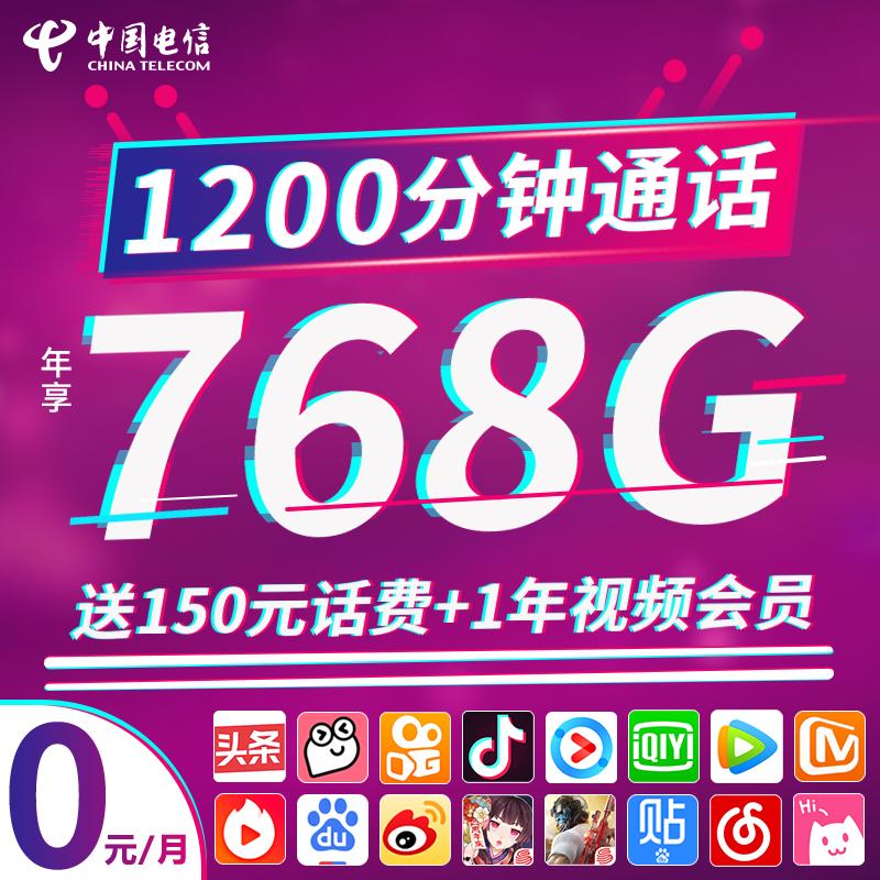 电信卡流量卡4g5g纯流量上网卡手机电话卡大王卡手机不限速0月租