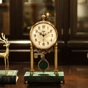 高端轻奢欧式摇摆钟表摆件客厅座钟