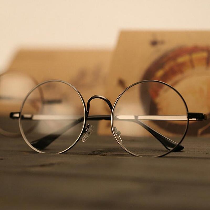 复古文艺圆形网红眼镜框架韩版潮男女无度数平光镜防辐射近视眼睛