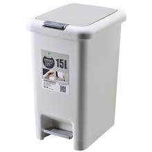 Pedal trash can with lid Creative bathroom toilet kitchen large foot classification small strap cover
