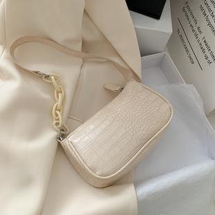 奶茶色亚克力腋下包法棍包女包包2020新款潮网红复古手提单肩包图片