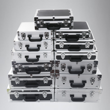 Small portable toolbox aluminum alloy box household instrument equipment document storage box password with lock medium
