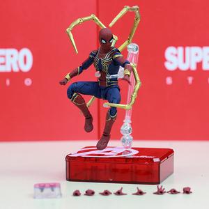 Q-动手可3复仇者关节shf办玩具战争蜘蛛侠联盟周边模型钢铁无限摆