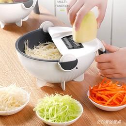 厨房多功能切菜器 切片沥水洗菜刨丝神器