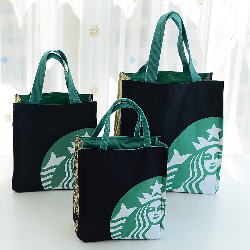 Lunch box bag, handbag, Korean shopping bag, small lunch bag, Mommy bag, carrying Korean students learning canvas bag