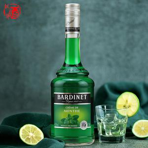 法国 必得利绿薄荷力娇酒 鸡尾酒bardinet liqueur 配制酒洋酒