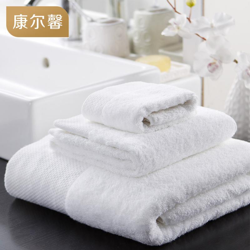 康尔馨五星级酒店白色吸水浴巾大号纯棉加厚成人裹胸浴巾男女
