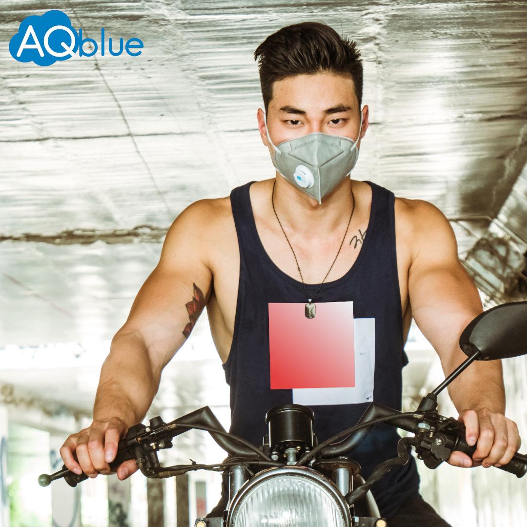 大きなマスク10個AQblue Class mark LスモッグPM 2.5男女KN 95袋をカラーで郵送します。