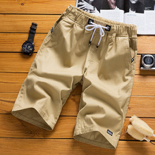 Three pure cotton shorts men's 5-point trousers trend leisure loose summer men's 7-point trousers beach pants