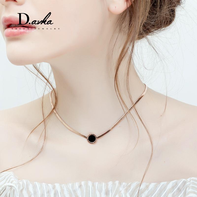 金色颈链韩国choker项圈潮人脖子饰品简约颈带个性少女锁骨链项链