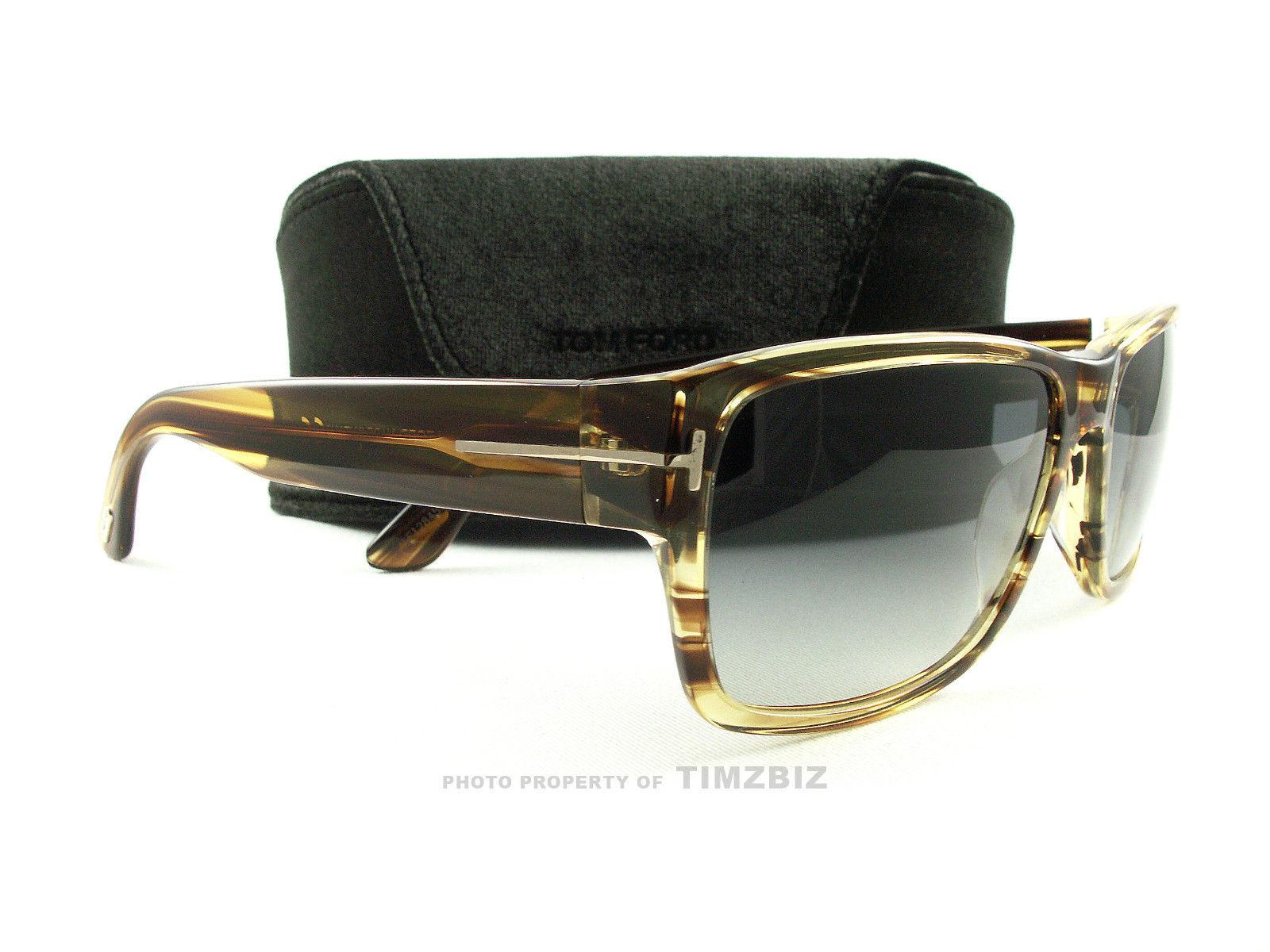 Tom Ford Sunglasses tf445 Mason 50B brown stripe ft0445 / s sunglasses for men and women