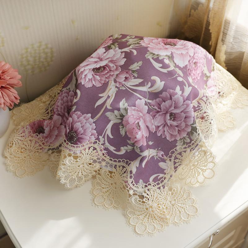 。厨房小电器茶盘布盖布盖巾防尘布正方形家用咖啡机豆浆机遮盖布
