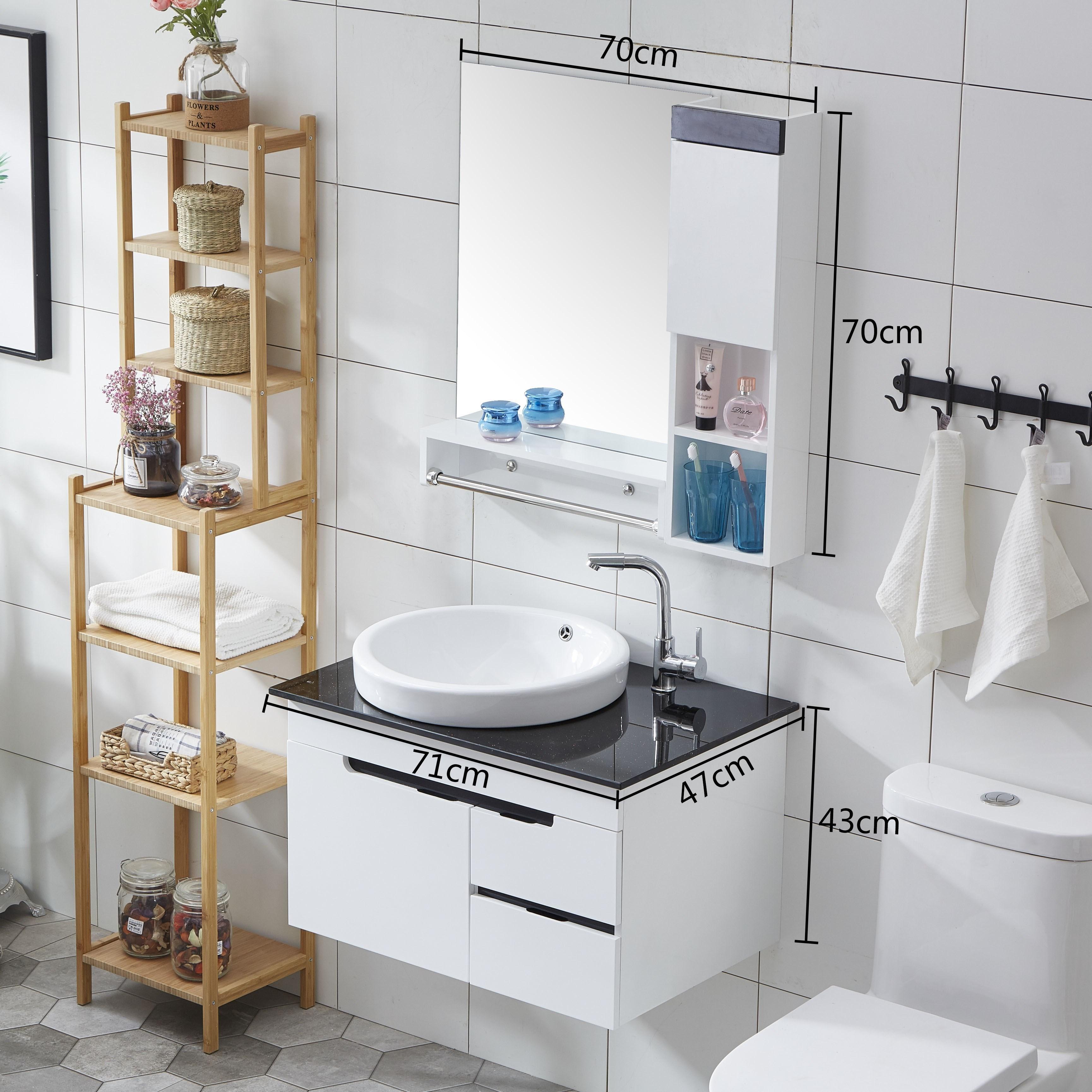 2019简约pvc厕所组合镜柜洗浴室柜热销0件限时抢购