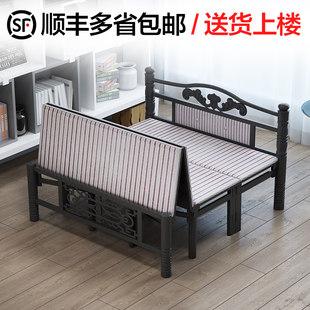 加固折叠床双人1.5米经济型家用单人床午休床木板床出租房简易床