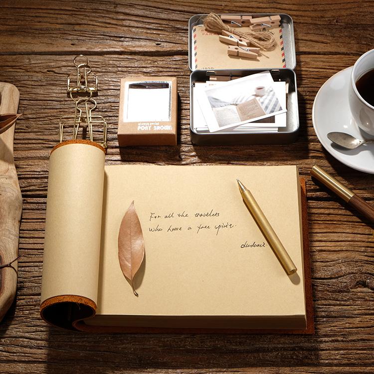 魔法书日记本复古牛皮笔记本记事本A5加厚手帐相册绘画素描手绘本30.00元包邮