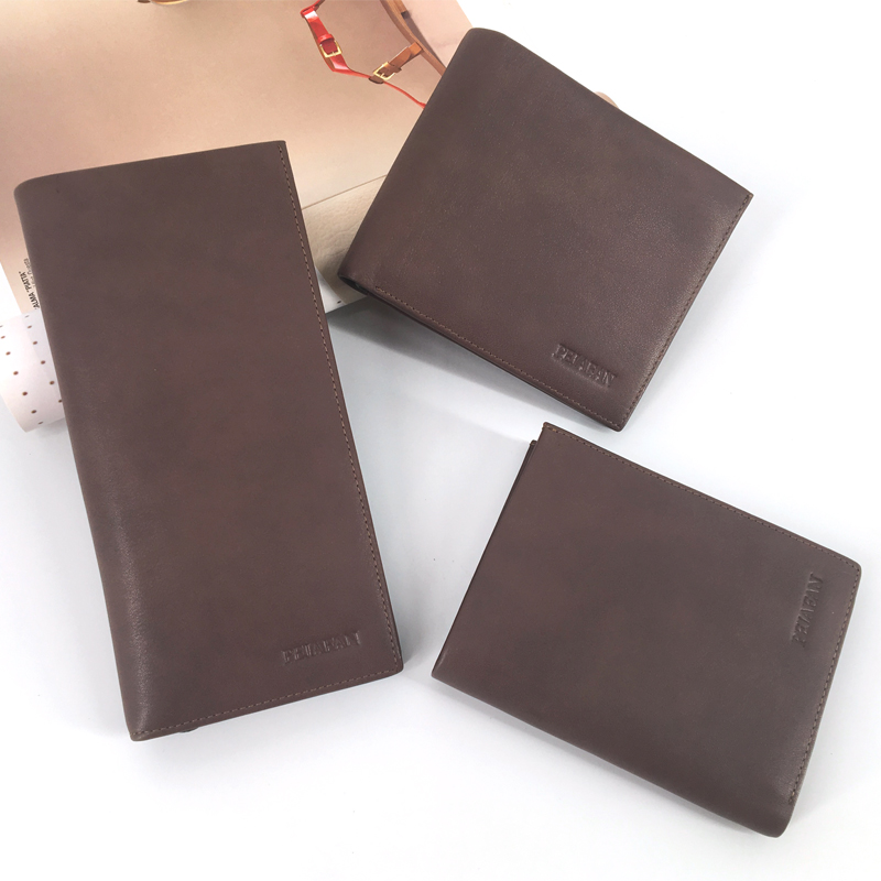 Leather workshop first layer leather mens wallet mens new leather business mens handbag Long Fashion Wallet