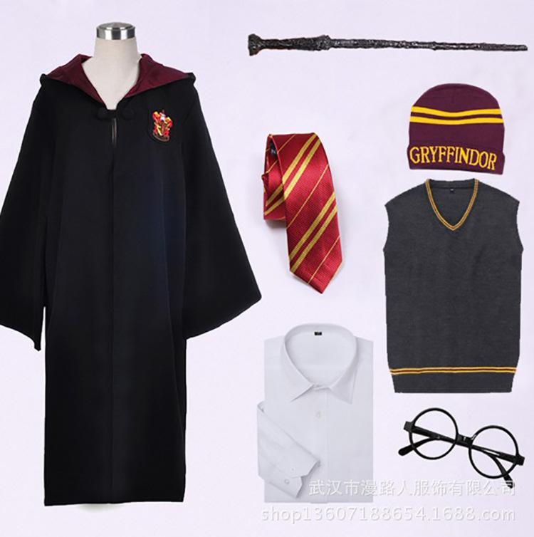 万圣节 魔法衣服 哈利波特魔法袍 哈利披风 格兰芬多C服装 校服