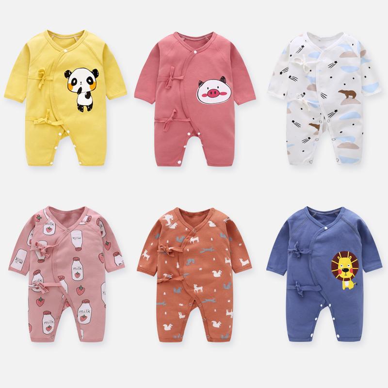 新生儿婴儿衣服春秋冬夏季薄款宝宝连体衣纯棉秋装和尚服初生夏装图片