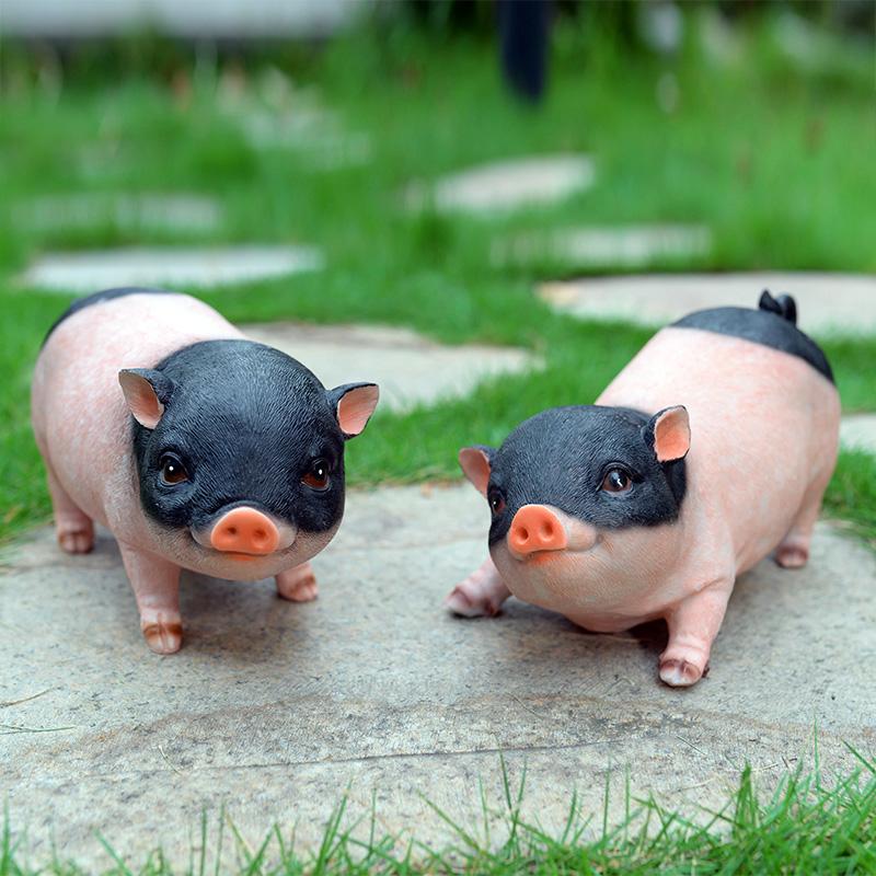 礼物女生闺蜜特别 便宜客厅招财可爱迷你树脂仿真小动物小猪摆件