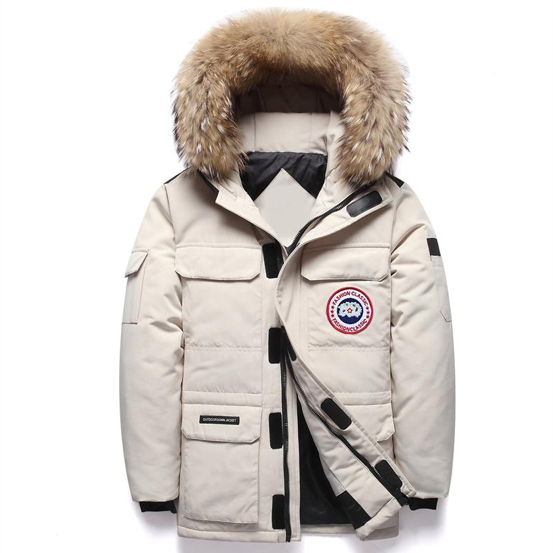 2021年冬季新款情侣羽绒服男士加厚中长款潮流派克工装跑男女外套