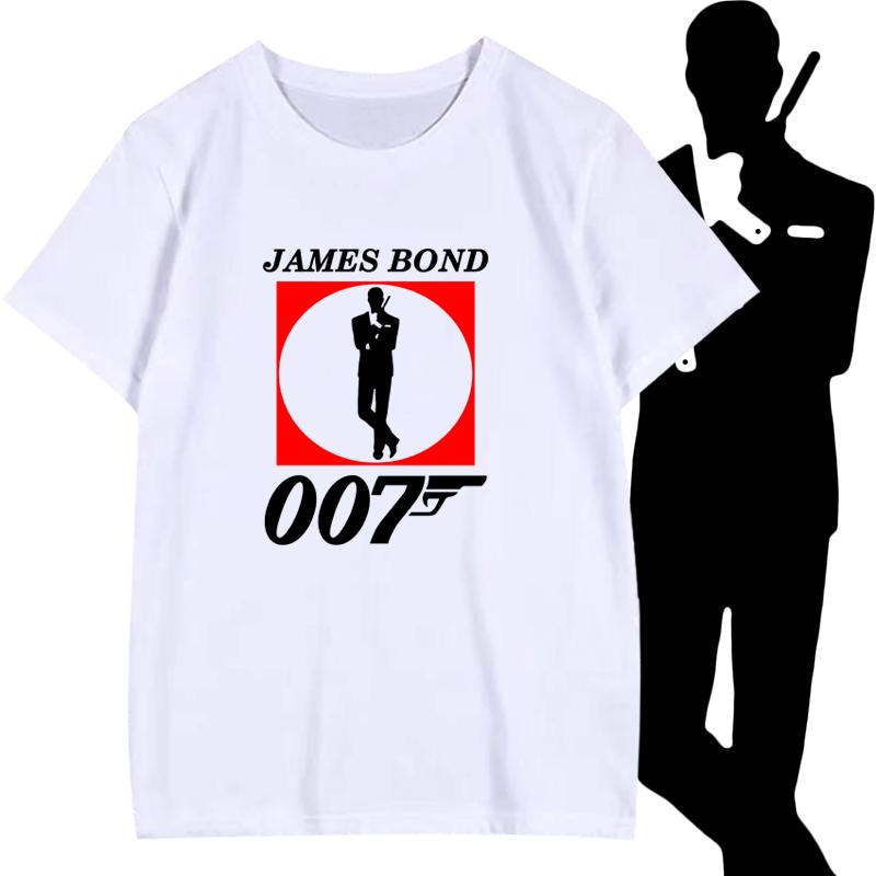 007特工詹姆斯邦德幽灵党电影定制T恤衫短袖学生纯棉半袖体恤衣服