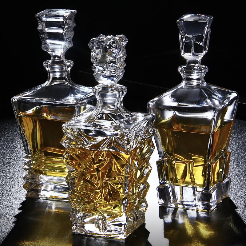 家用威士忌洋酒套装大号水晶酒瓶