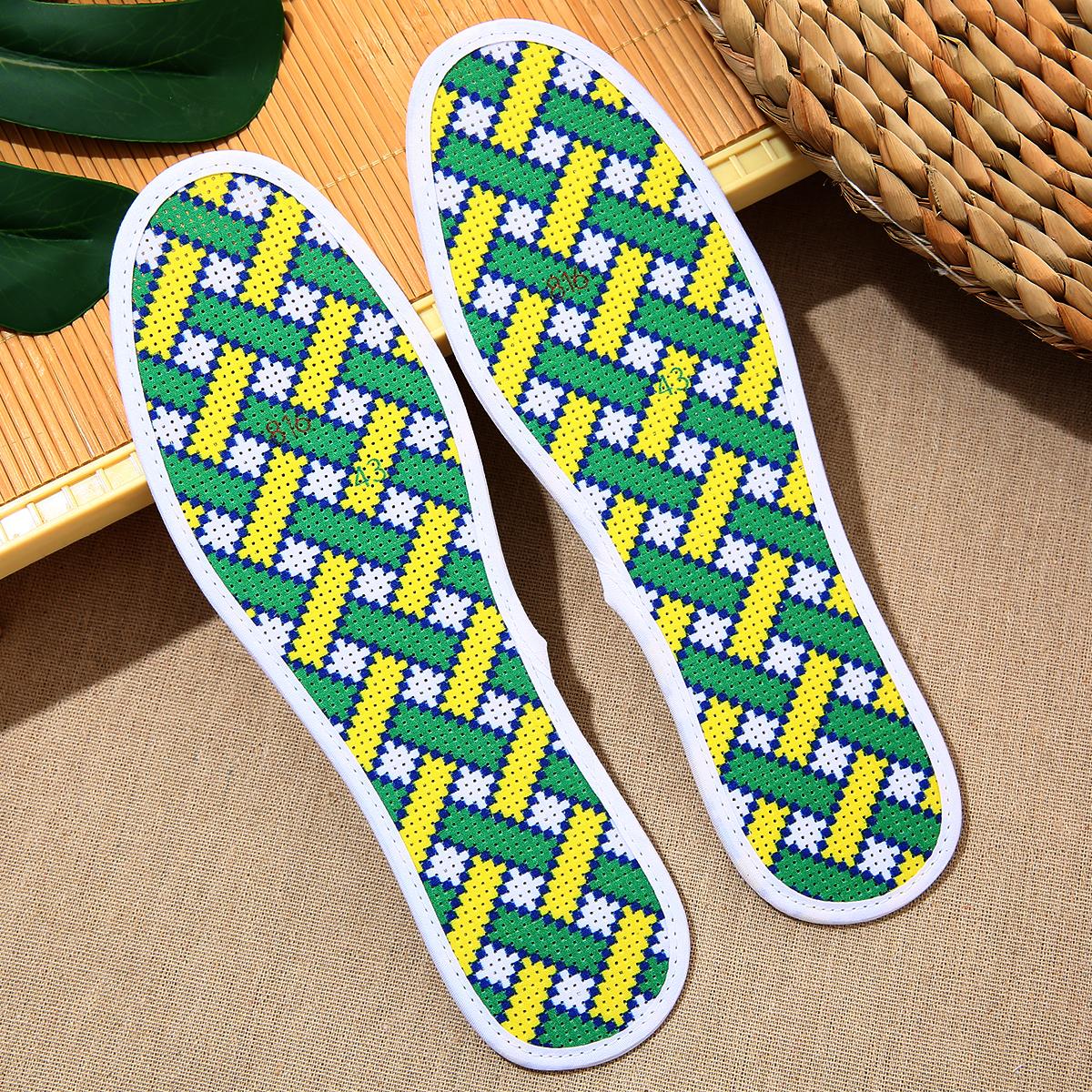 十字绣鞋垫纯棉男女半成品六层精准印花针孔吸汗透气防臭满6包邮