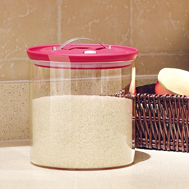 巧慕ZSQ储物玻璃密封罐玻璃大茶叶罐五谷杂粮米桶缸水果酵素瓶罐
