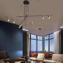 工业风灯超亮简约现代网咖健身房灯LED造型灯创意异形办公室吊灯