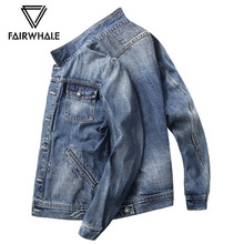 Mark Warfield Jeans Jacket Men's Fall 2019 Korean Edition Fashionable Jeans Jacket Men's Spring and Autumn Trend