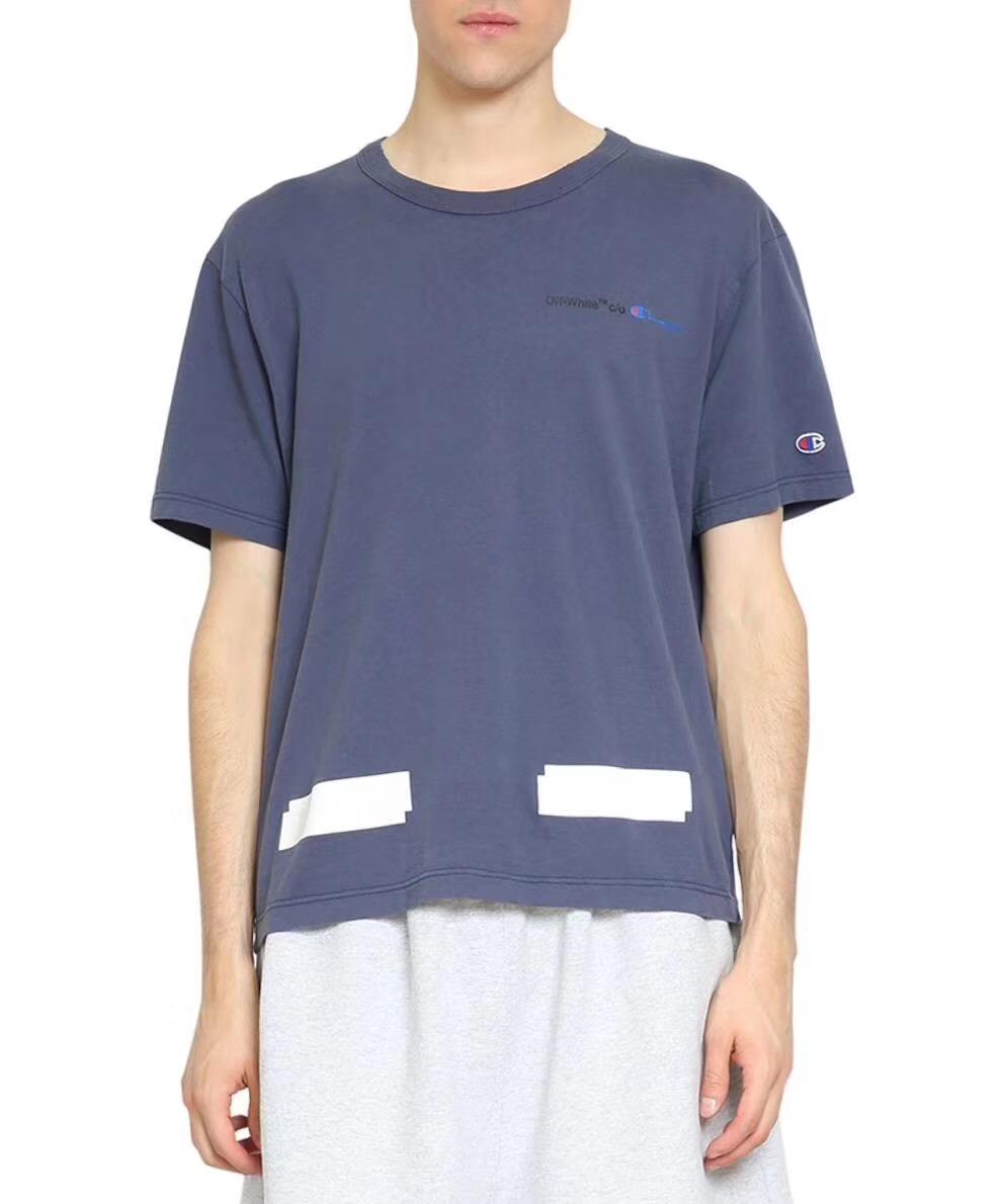 鹿鹿骚包 Off-White 18新款 基础款 蓝色箭头 短袖t恤 男女t恤