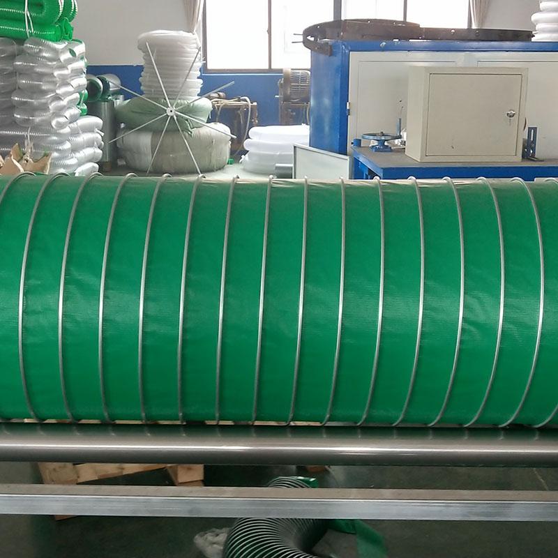 耐高温通风管 口径100-400mm尼龙布带钢丝伸缩软管防火阻燃排风管