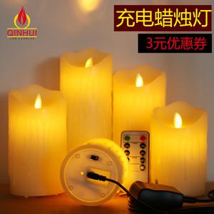 usb充电led电子蜡烛灯仿真假蜡烛婚庆表白引路灯浪漫酒店装饰蜡烛