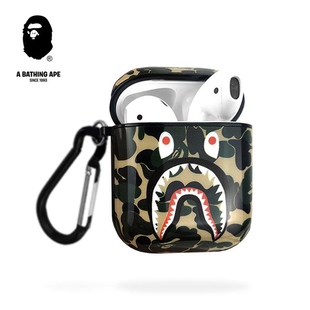 苹果AirPods1/2通用软壳潮牌Bape鲨鱼嘴无线蓝牙耳机保护套个性