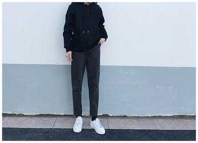 左手日记2020春夏新款灰绿色休闲长裤棉质显瘦工装裤男友风女裤