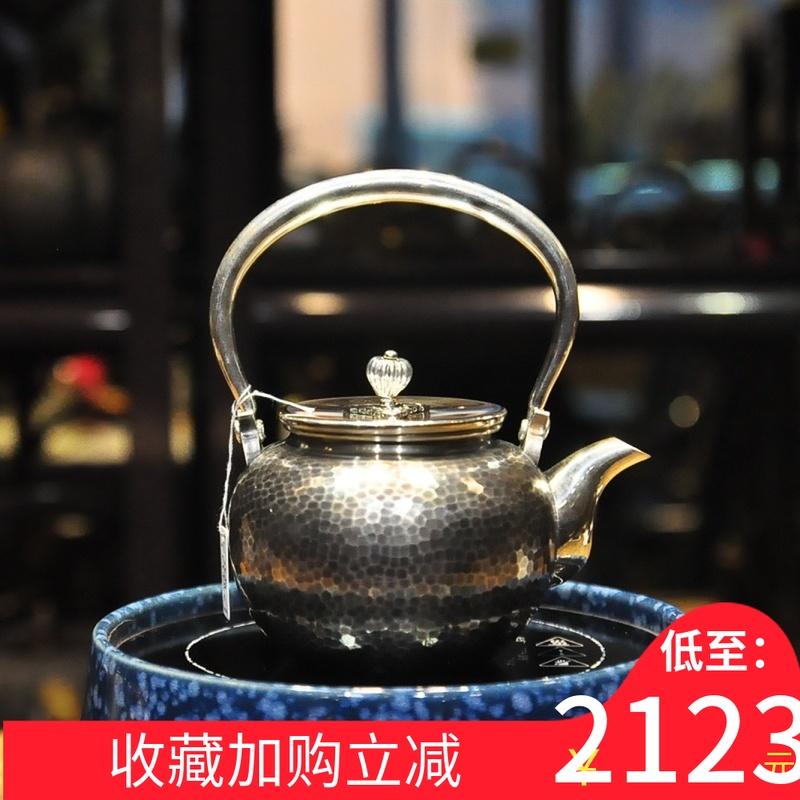 泡茶银壶纯银999纯手工日本烧水壶