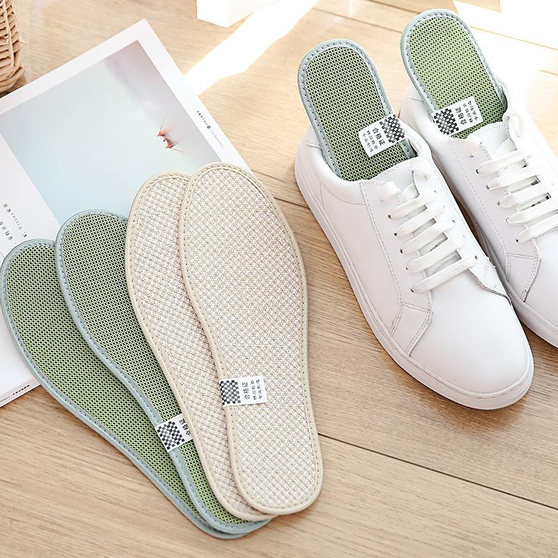2双装 鞋垫男休闲运动鞋舒适棉麻鞋垫冬季女款加厚皮鞋鞋垫图片