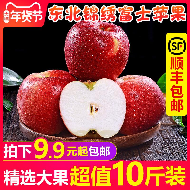 东北红富士苹果水果10斤新鲜当季海棠果沙果整箱应季冰糖心丑苹果