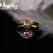 炫典珠宝直播镶嵌18k女款手饰A货高冰种玉石吊坠挂件缅甸翡翠戒指