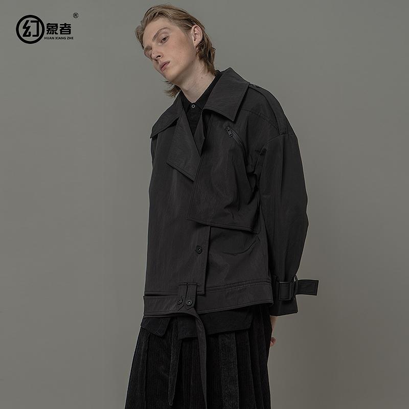 幻象者设计师潮牌暗黑系男装工装夹克个性短款oversize廓形外套男