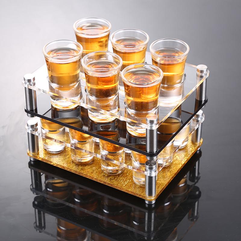 水晶玻璃烈酒威士忌杯 小子弹杯 KTV洋酒杯一口杯家用白酒杯套装
