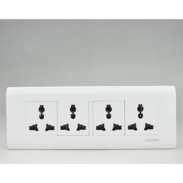 西门子开关插座组合118型四位12十二孔六孔插座雅白9九孔电源插座26.90元包邮